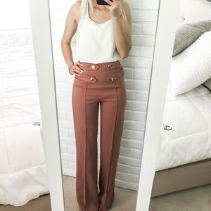 Lovesong High Waist Wide Leg Trousers Size M